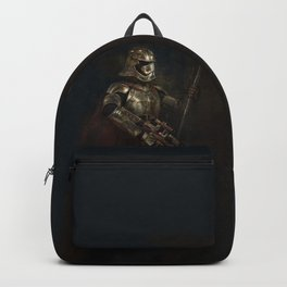 The Woman in the Armour Backpack