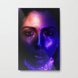 Space Face - Beamed Metal Print