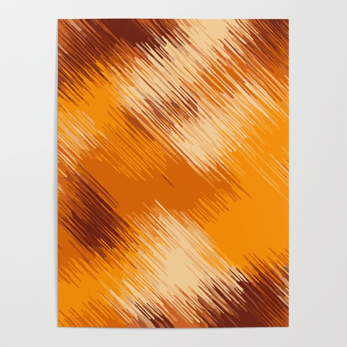 Brown Orange And Dark Brown Abstract Background Poster By Timla