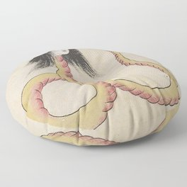 SARA HEBI / SNAKE WOMAN - ARTIST UNKNOWN Floor Pillow