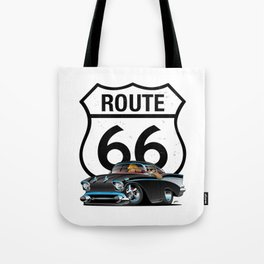 Route 66 Classic Car Nostalgia Tote Bag