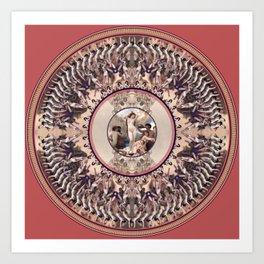 Mandala: Bouguereau (Pink) Art Print