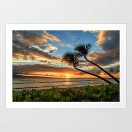 Sunset In Kaanapali Art Print