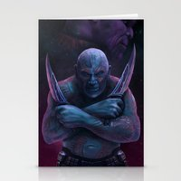 thanos Stationery Cards featuring Drax and Thanos by Jaime Gervais