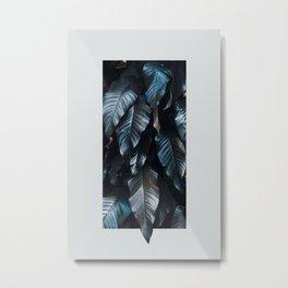 Growth II (blue) Metal Print