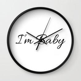 I'm Baby Print Wall Clock