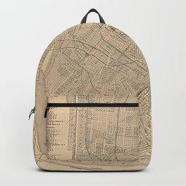 Vintage Map of New Orleans LA (1908) Backpack