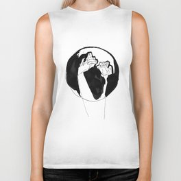 moonlight hands Biker Tank