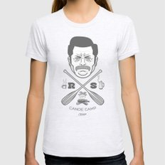 Ron Swanson Canoe Camp (clean gray variant) MEDIUM Ash Grey Womens Fitted Tee