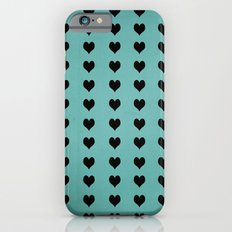 Rows Of Hearts (teal) Slim Case iPhone 6s
