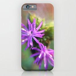 Cute Purple Flowers iPhone Case