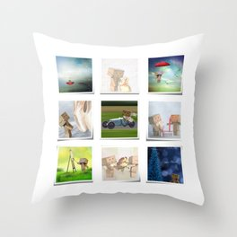 A life with Danbo Throw Pillow