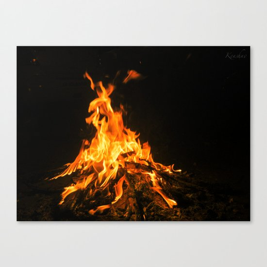Bonfire (lohri) Canvas Print