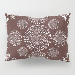 For the Love of Chocolate: Love Symbols Mandala Pillow Sham
