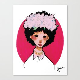 transparent flower girl  Canvas Print