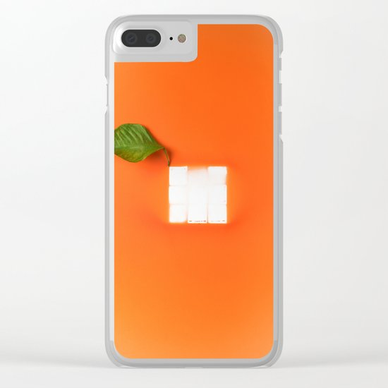 Orange out of the box Clear iPhone Case