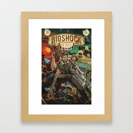 Bioshock Infinite: Vintage Comic Cover Framed Art Print