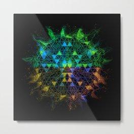 mandala star abstract Metal Print