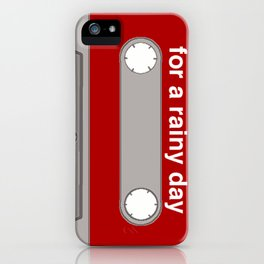 mixtape for a rainy day iPhone Case