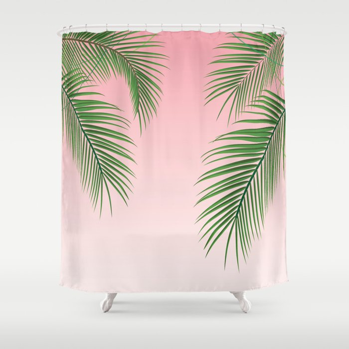Etonnant Palm Tree Leaves Shower Curtain