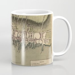 Vintage Map of Newport Rhode Island (1777) Coffee Mug