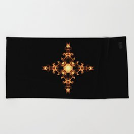 Fire Cross Beach Towel