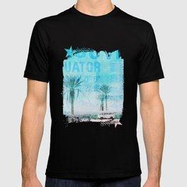 Travel The World Mixed Media Art T-shirt