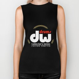 DW Drums Collector Series Custom Crafted Black Size Drummer Biker Tank
