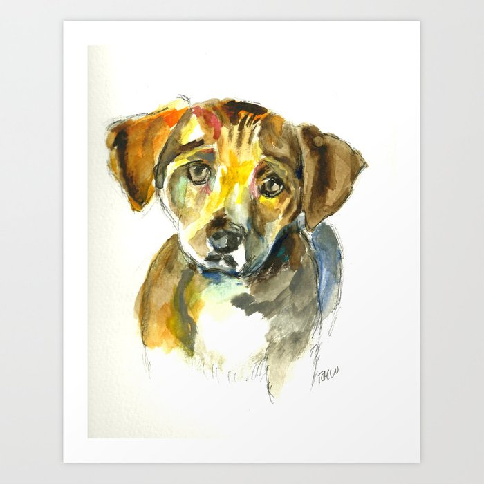 Sympathetic puppy Art Print