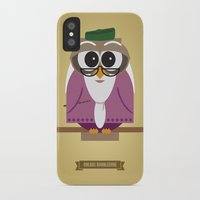 dumbledore iPhone & iPod Cases featuring Owlbus Dumbledore by Famous Owls