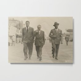 Vintage Suits on the Boardwalk Metal Print