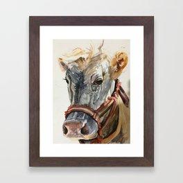 Vaca! (Cow!) Framed Art Print