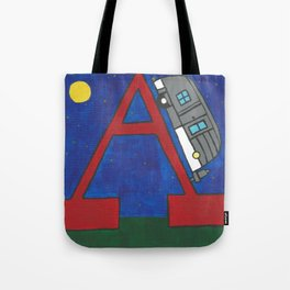 A is for Airstream Tote Bag