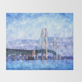 The Mackinac Bridge Throw Blanket
