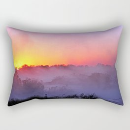 Sunrise with morning fog at a River in Africa  Rectangular Pillow