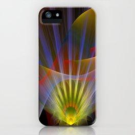 Inner light, spiritual fractal abstract iPhone Case