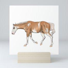Sato, Palomino Sabino Thoroughbred Mini Art Print