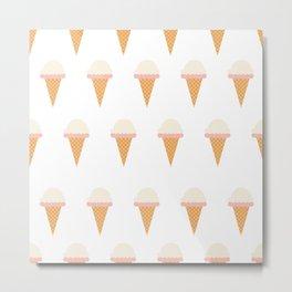 Strawberry and Vanillia Ice-creams Metal Print
