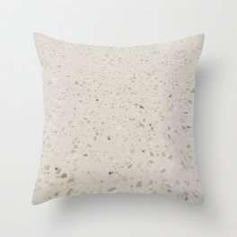 White Speckled Stone Throw Pillow