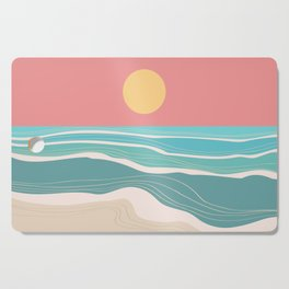 Crashing wave on sunny bay Cutting Board