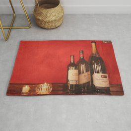 Wine on the Wall Rug