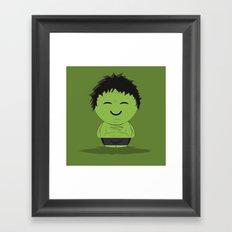 ChibizPop: It ain't easy being green! Framed Art Print