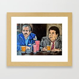 Cheers to Cliff and Norm Framed Art Print