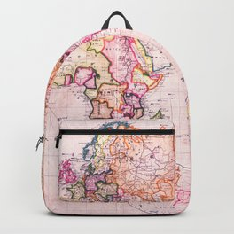 Vintage Map Pattern Backpack