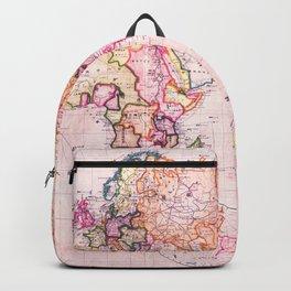 Vintage Map Pattern Backpack