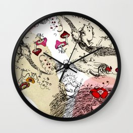 Animals wood Wall Clock