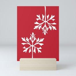 Simple snowflake no. 2 Mini Art Print