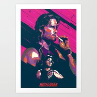 metal gear Art Prints featuring ESCAPE FROM METAL GEAR by mergedvisible
