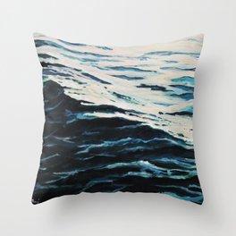 Sea calmness Throw Pillow