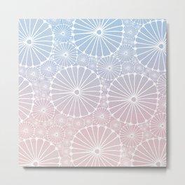 Abstract Floral Circles 8 Metal Print